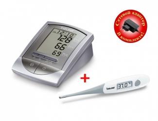 Тонометр Beurer BM16 + Термометр Beurer FT15 + Сетевой адаптер